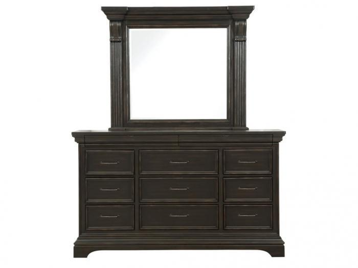 Caldwell Dresser and Mirror,Pulaski Furniture