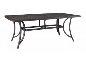 Burnella RECT Dining Table w/UMB OPT