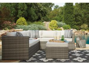 Peckham Park 3 Pc Outdoor Sectional w/Ottoman