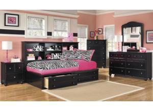 Jaidyn Bookcase Storage Bed - Twin