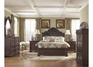 Caprivi Queen Storage Bed, Dresser, Mirror, and Chest