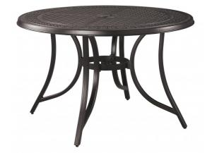 Burnella Round Dining Table w/UMB OPT
