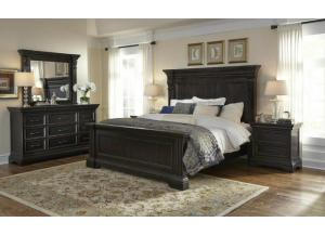 Caldwell Queen Panel Bed, Dresser, Mirror & Chest