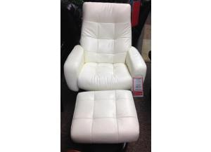 Brilliant White Stress-Free Chair and Ottoman