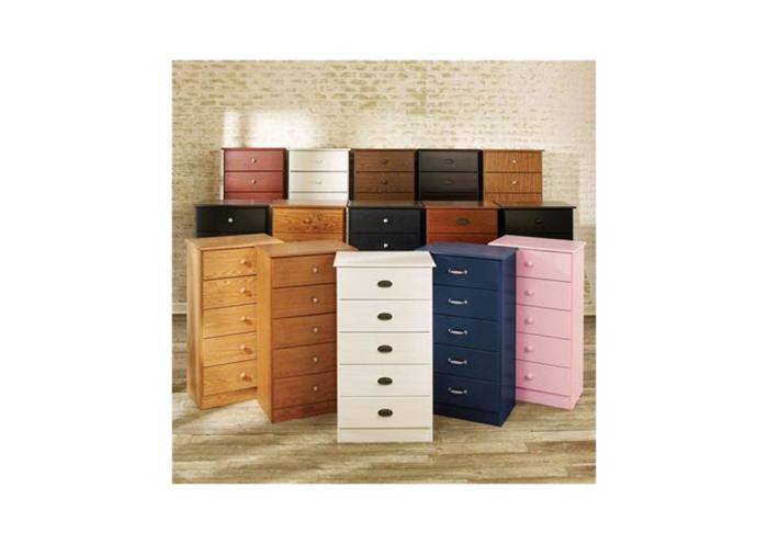 4-Drawer Chest Available In Black or White,Furniture Exchange