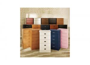 5-Drawer Chest Available In Black or White,Furniture Exchange