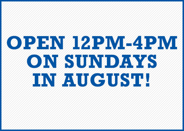 Open on Sundays in August