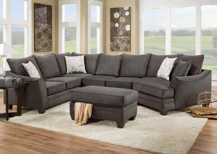 Furniture Liquidators Home Center Flannel Seal Sectional