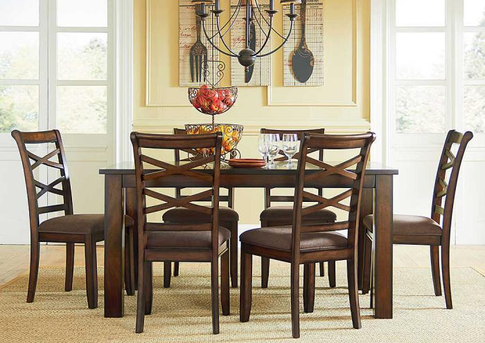 Redondo Cherry 7 Pc Dining Set,Standard Furniture
