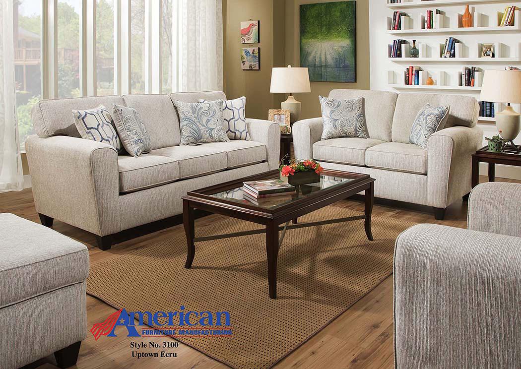Furniture liquidators home center uptown ecru sofa for Furniture liquidators