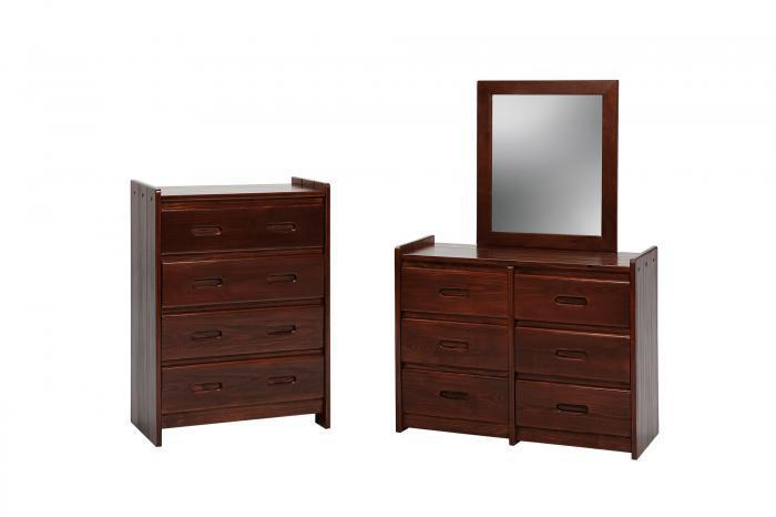 GR Chest w/ 4 Drawers-Dark,Woodcrest
