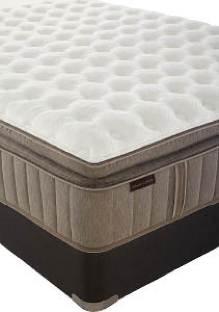 Oak Terrace Eurotop Queen Mattress w/ Foundation with $200 in FREE Furniture,Stearns & Foster