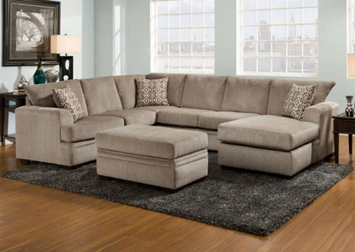 Furniture Liquidators Home Center Cornell Pewter Sectional