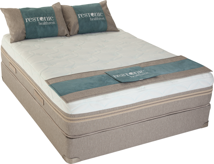 Tahoe Tempa-Gel Queen Mattress w/ Foundation with $200 in FREE Furniture,Restonic
