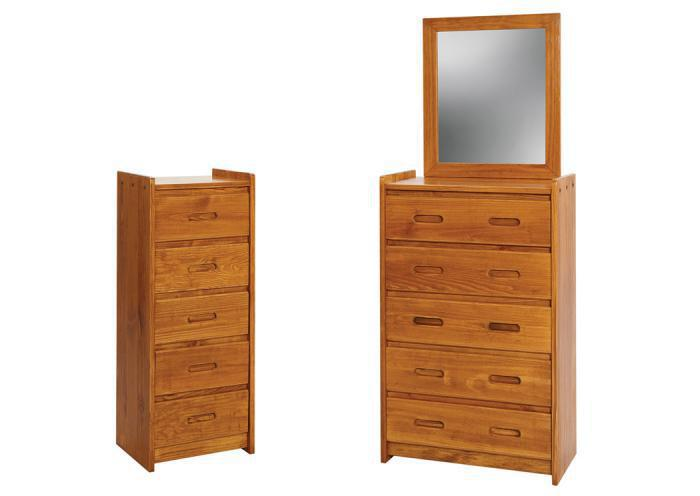 GR Chest w/ 5 Drawers,Woodcrest