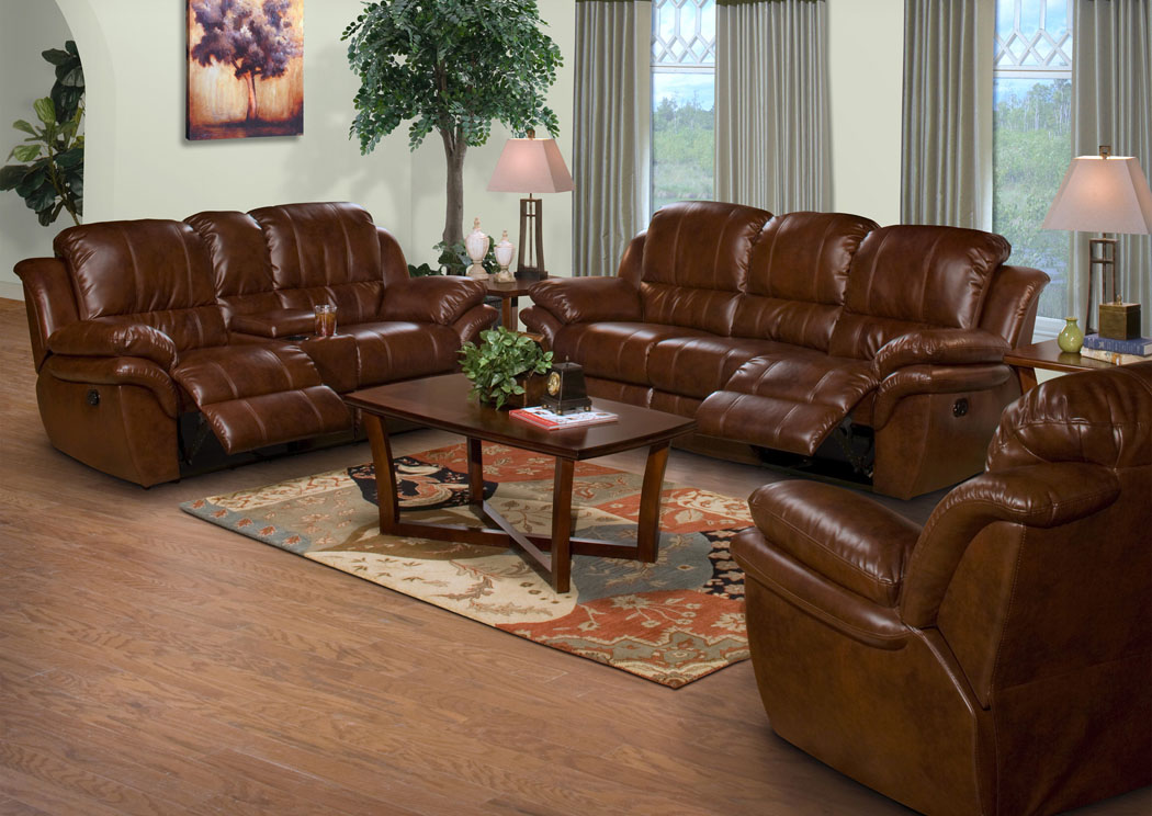 Cabo Brown Reclining Sofa & Loveseat,New Classics
