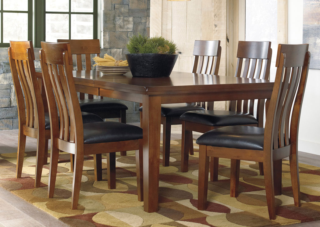 Furniture Liquidators Home Center Ralene Rectangular Extension Table W 6 Upholstered Side Chairs