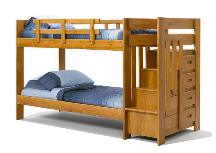Heartland Twin Stair Bunk Bed *Mattresses Sold Separately*,Woodcrest