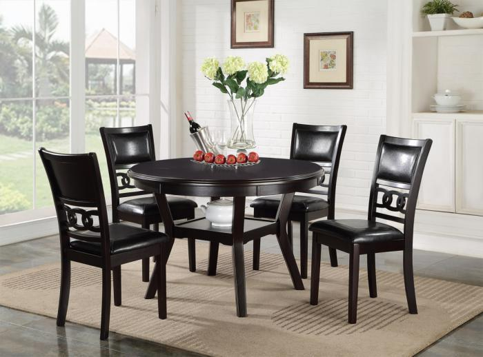 Furniture liquidators home center gia 5 pc round dining set - Comedores redondos modernos ...