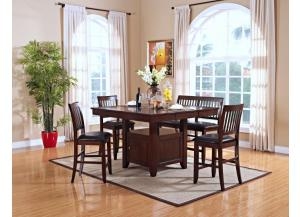 Kaylee Pub Table w/ 4 Stools and Bench