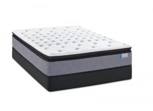 Trevalyn Pillowtop Twin Mattress w/ Foundation Plus Free Sheet Set