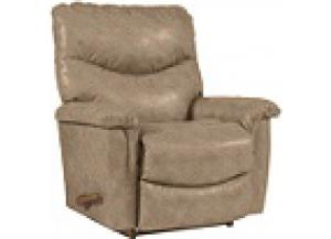James Bonded Leather Rocker Recliner