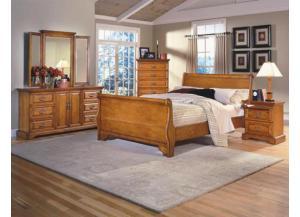 honey creek queen sleigh bed