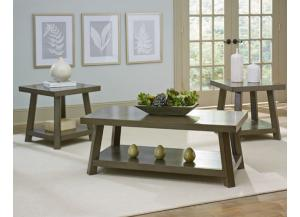 Omaha Grey 3 pc Table Grouop