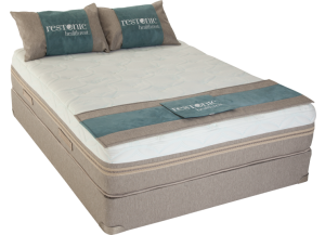 Tahoe Tempa-Gel Full Mattress with Foundation Plus Platinum Bedding Package