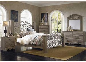Timber Creek Queen Poster Bed, Dresser, Mirror & Nightstand