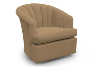 Elaine Coffee Swivel Chair