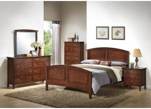 Whiskey Queen Bed, Dresser, Mirror and Chest