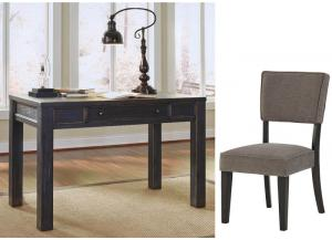 Gavelston Black 2Pc Desk & Chair