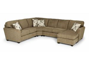 643 Sectional Logan Ston,Stanton Fine Furniture