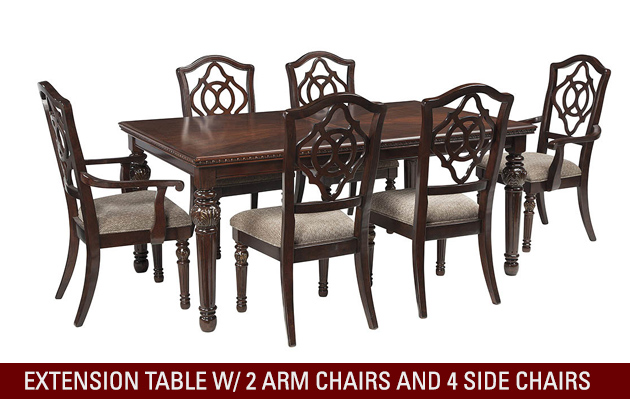 leahlyn-reddish-brown-rectangular-dining-room-extension-table-w-2-arm-chairs-and-4-side-chairs