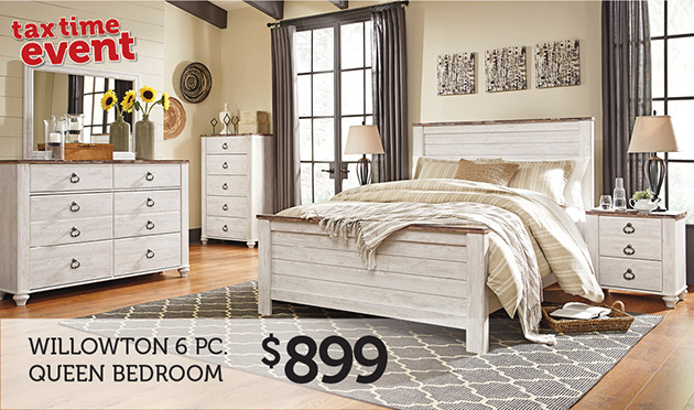 Willowton 6 PC Queen Bedroom