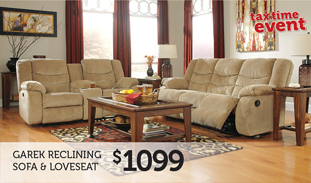 Garek Reclining Sofa & Loveseat