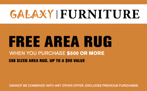 Free Area Rug with purchase of $500