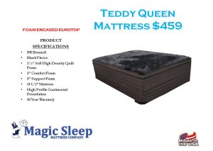 Teddy Foam Eurotop Queen Mattress