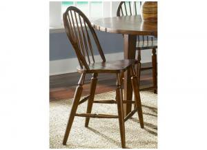 Cabin Fever Formal Dining Windsor Back Barstool