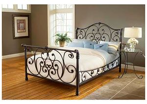 Mandalay Bed Set- King- Rails not included