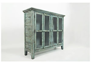 Rustic Shores 4 Door Accent Cabinet
