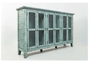 Rustic Shores 6 Door Accent Cabinet
