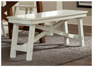 Creations II Dining Bench- White