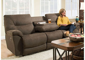 Calloway Reclining Sofa with Table