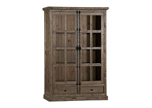 Tuscan Retreat Double Door Cabinet- Aged Grey Finish