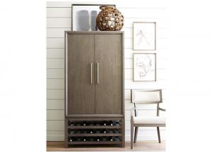 Highline Greige Bar Cabinet