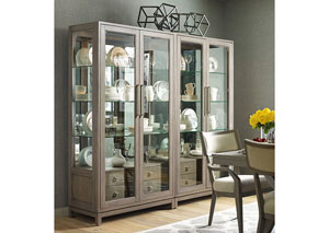 Highline Greige Bunching Display Cabinet
