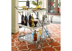 Soho Ash Bar Cart
