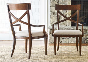 Upstate Conciare X-Back Arm Chair